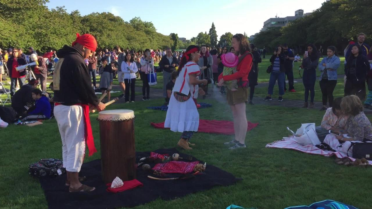 Aztec cleansing ceremony at the Capitol
