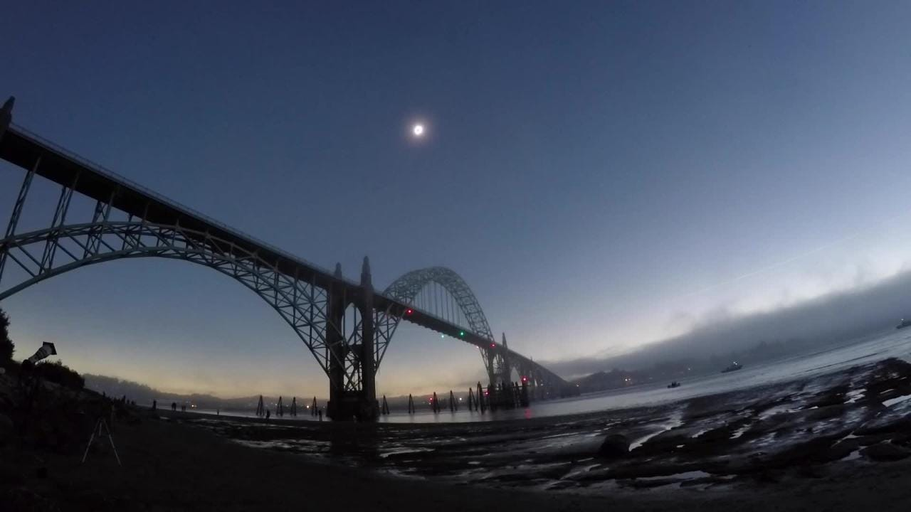 WATCH: Timelapse of solar eclipse over Newport, Oregon