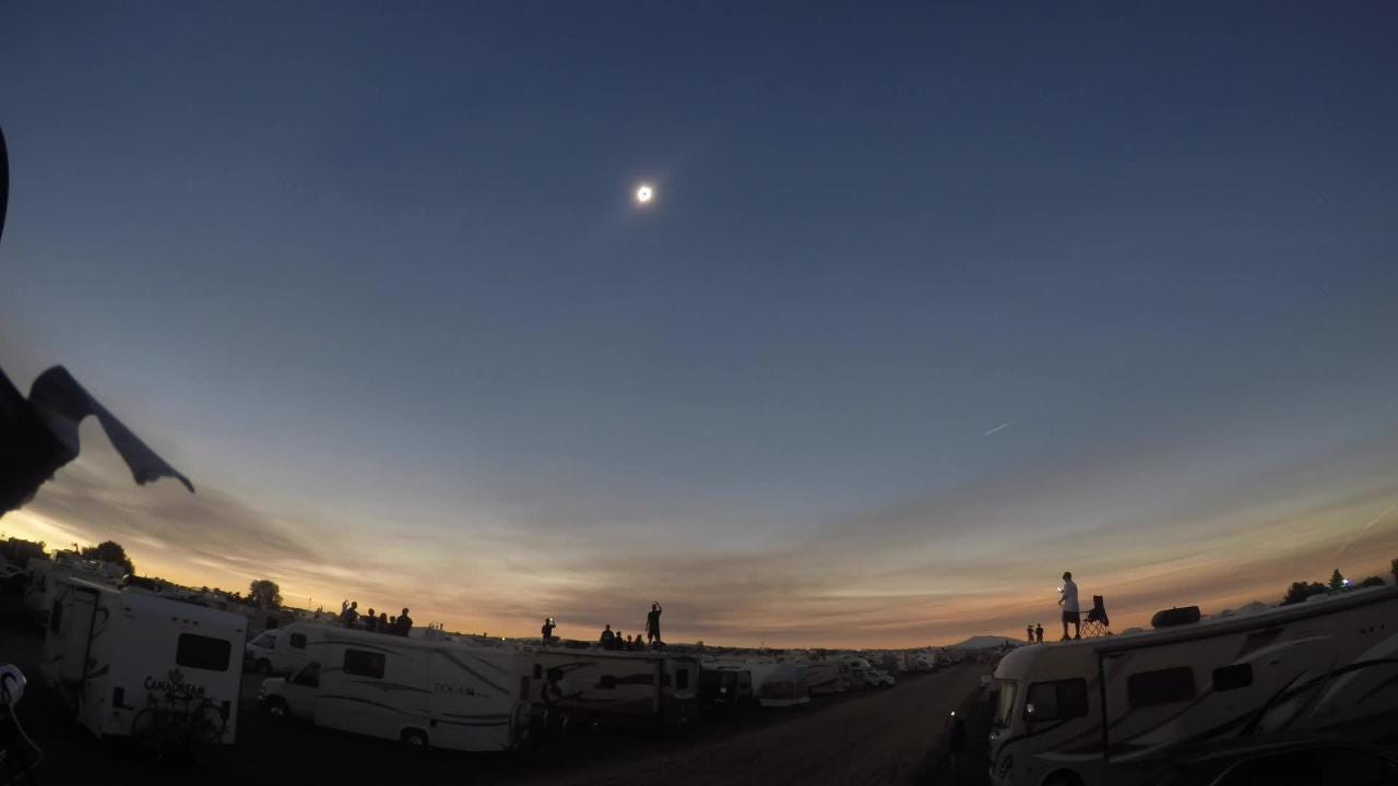 WATCH: Timelapse of solar eclipse over Madras, Oregon