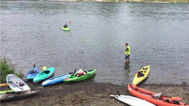 Over 100 participants joined Salem's first River 2 Ridge relay, kayaking from Salem to near Keizer, then cycling to Silver Falls and running a 5.8-mile loop through the state park.