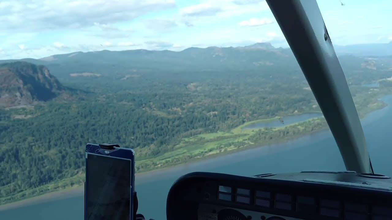 An aerial look at damage from the Eagle Creek Fire in the Columbia Gorge.