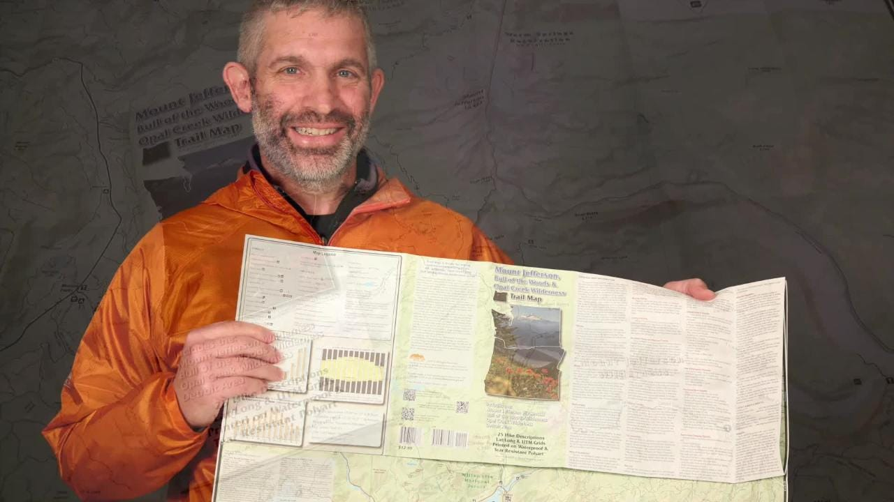 Local mapmaker Scott Rapp showcases the Detroit Lake, Mount Jeffereson and Opal Creek area