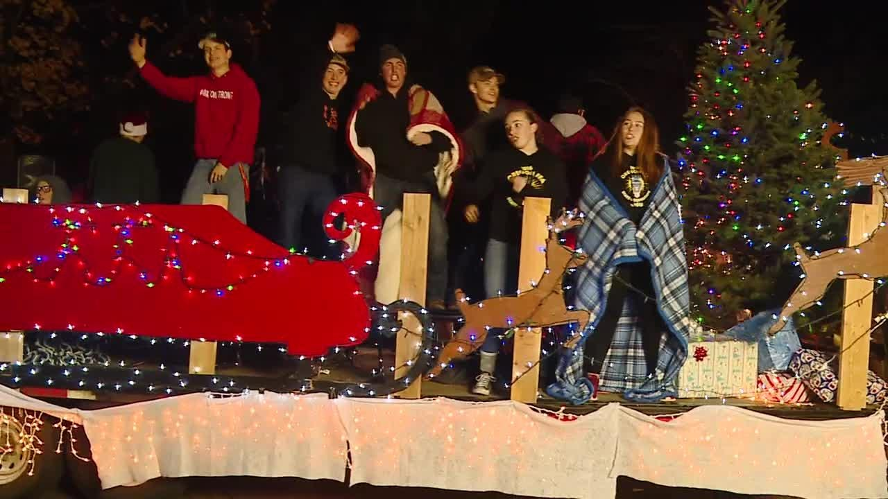 Floats, athletes and more before the Christmas tree lighting in Monmouth.