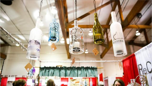 From wine lights, coin pendants and of course ornaments, here are some items that stood at the Salem Holiday Market. ABBY LUSCHEI / Statesman Journal