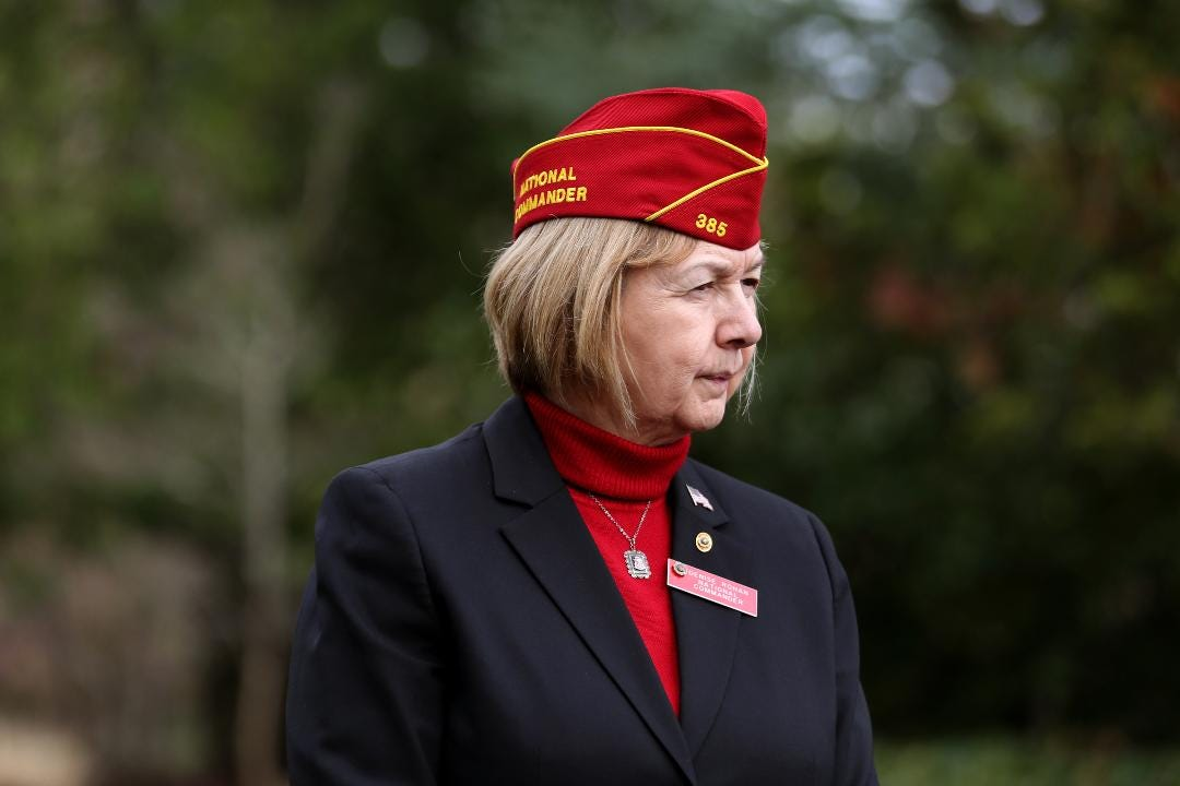 Denise Rohan, the first female American Legion National Commander, visited Gov. Kate Brown, veterans' memorials and an all-female post while in Salem and other parts of Oregon.
