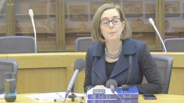 Gov. Kate Brown talks about gun legislation