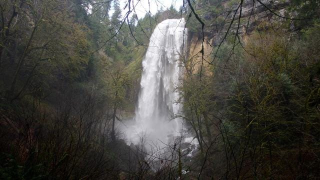 Golden and Silver Falls State Natural Area is home to two of Oregon's most scenic waterfalls in a Coast Range hideaway east of Coos Bay.