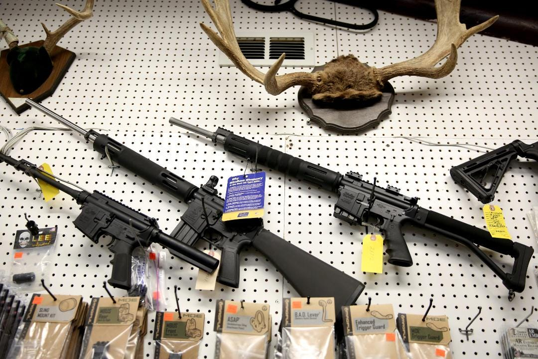 VIDEO- AR rifle sales jump in Salem after mass shooting