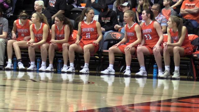 The Silverton vs. Marist Catholic OSAA Class 5A semifinal girls basketball game at Oregon State University in Corvallis on Thursday, March 8, 2018. Marist Catholic won the game 46-39. Silverton will go on to play in the third place game on Friday.