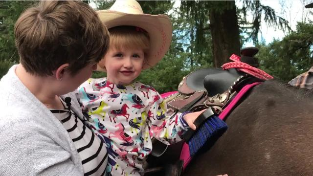 Penelope Butler, fighting Diamond-Blackfan anemia, wanted a pony. Thanks to Make-A-Wish and Marion County, she got one.