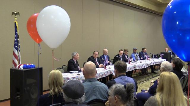 Seven Republican candidates for Governor answer what they believe are the three biggest problems facing the state of Oregon at a debate hosted by Oregon Women for Trump on Saturday, March 24, 2018, in Keizer.