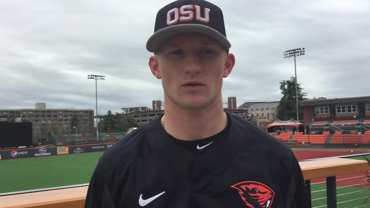 Oregon State's Andy Armstrong talks about his opportunity on March 27, 2018.