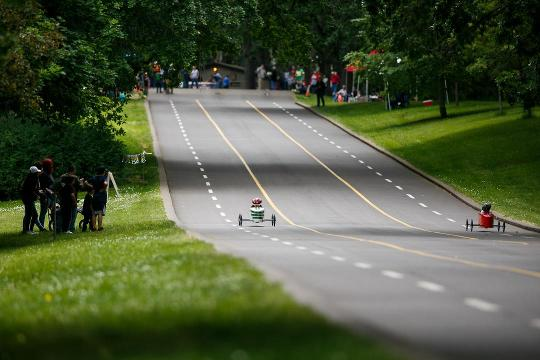 Soap box derby is a chance for families to work on a project together and then race down the 900-foot track at Bush's Pasture Park in Salem.