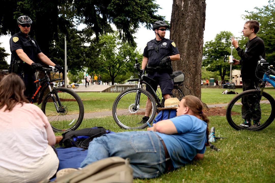 Salem Police get to know many of the people who are homeless downtown by name. The relationships they form help to build trust.