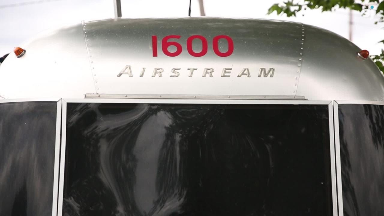 Brad Taylor of Salem refurbishes vintage Airstreams ahead of an international rally for travel trailer fanatics at the Oregon State Fairgrounds.