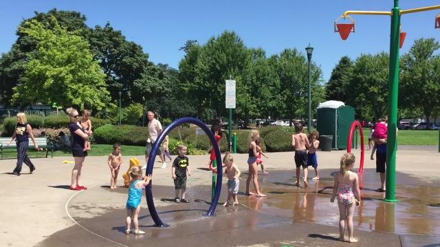 Salem's Riverfront Park splash pad was a popular place on Sunday, June 17, 2018, as the city's spray fountains opened on Friday ahead of a warm week.