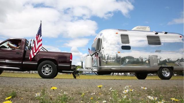 Over 100 vintage Airstreams joined 600 more at the Oregon State Fairgrounds in Salem on Saturday for the 61st annual Wally Byum Airstream Club International Rally.