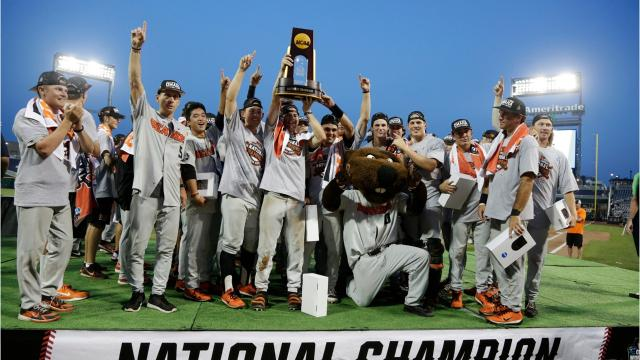 Oregon State fans filled Goss Stadium as they celebrated the arrival of their 2018 National Champion baseball team fresh off of their victory over the Arkansas Razorbacks in Omaha.