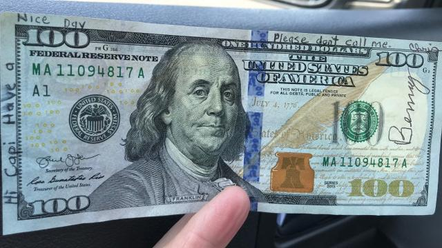 Statesman Journal columnist Capi Lynn pays it forward on behalf of Benny and a reader named Chris, who asked that she decide what to do with the signed $100 bill he recently found in his car. CAPI LYNN / Statesman Journal