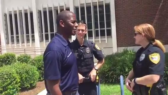 Mayor Andrew Gillum before TPD ride along