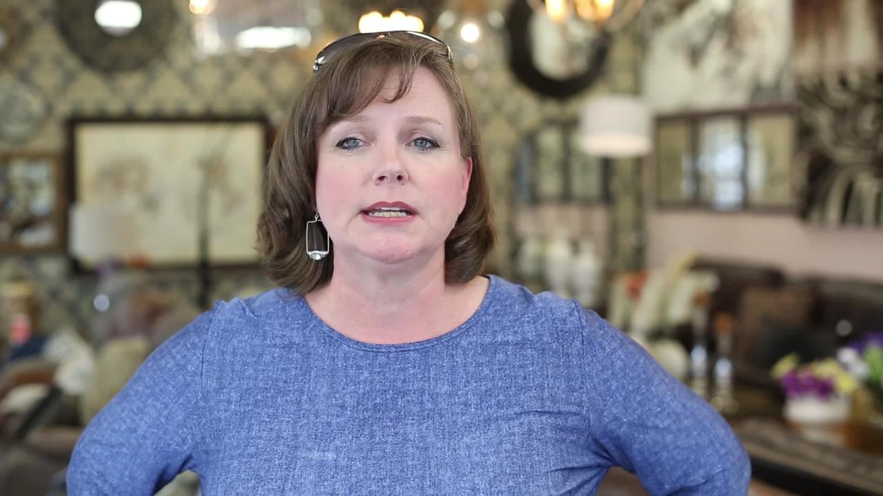 Ponderosa Junction owner Alicia Cartwright  explains how her furniture store incorporates technology into the shopping experience from the showroom of her Bannerman Crossing location July 10.