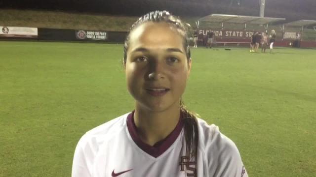 Watch it: FSU's Deyna Castellanos on team's 3-0 win over UNCG