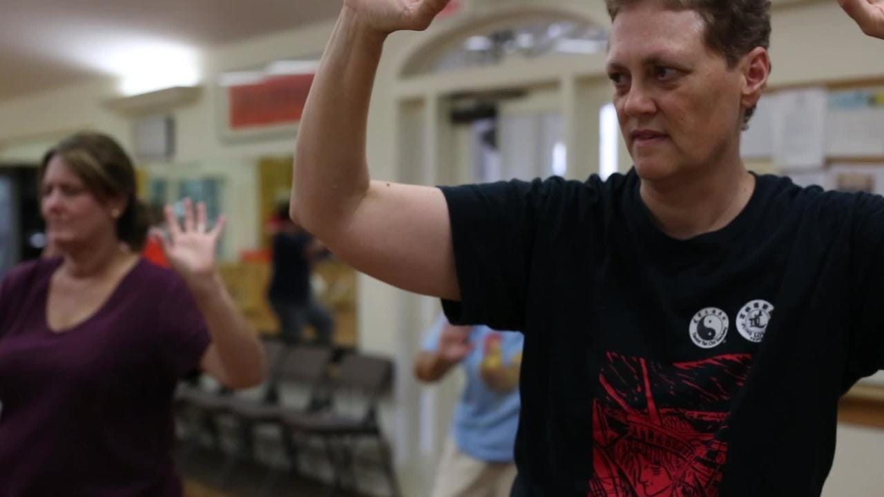 Director at Tallahassee's Taoist Tai Chi Society Karen Laughlin speaks to the Democrat during one of the center's weekly classes July 18.