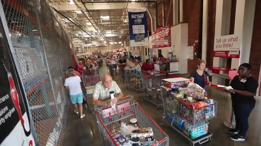 Costco Hurricane Supply Run