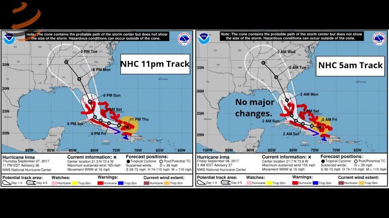 Watch it: WeatherTiger Hurricane Irma update (Sept. 8 morning)