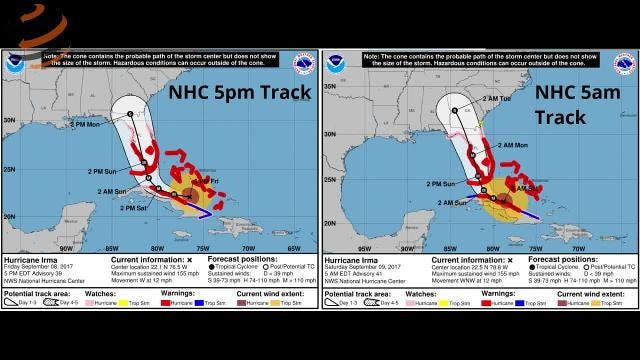 Watch it: WeatherTiger Hurricane Irma update (Sept. 9 morning)