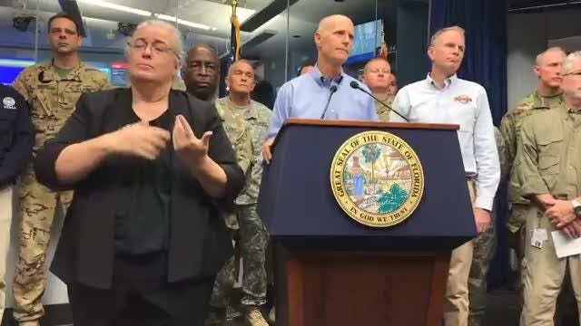 Watch it: Gov. Rick Scott on Hurricane Irma as storm approaches Marco Island.