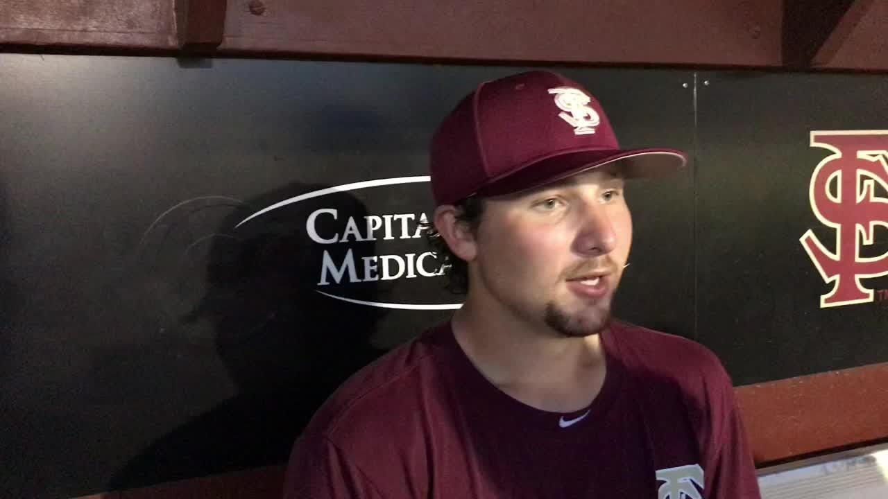 Watch it: FSU catcher Cal Raleigh talks end of fall practice
