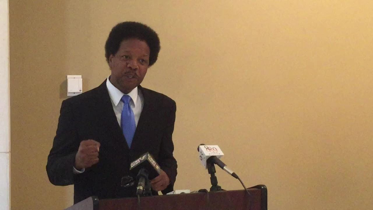 Commissioner Proctor addresses crime in Tallahassee at a press conference Oct. 18.