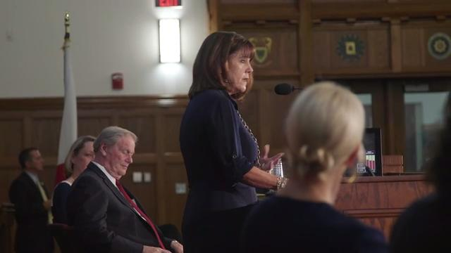 Karen Pence, wife of Vice President Mike Pence, visited Florida State University to promote art therapy.