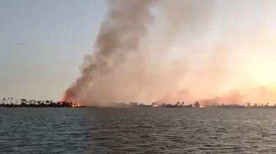 Little St. George Island fire Thursday
