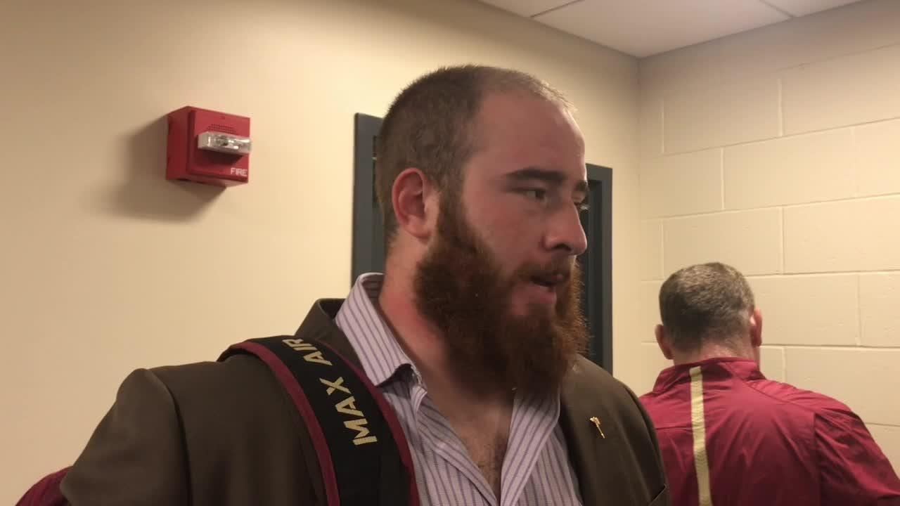 Watch it: FSU center Alec Eberle talks after loss to Boston College