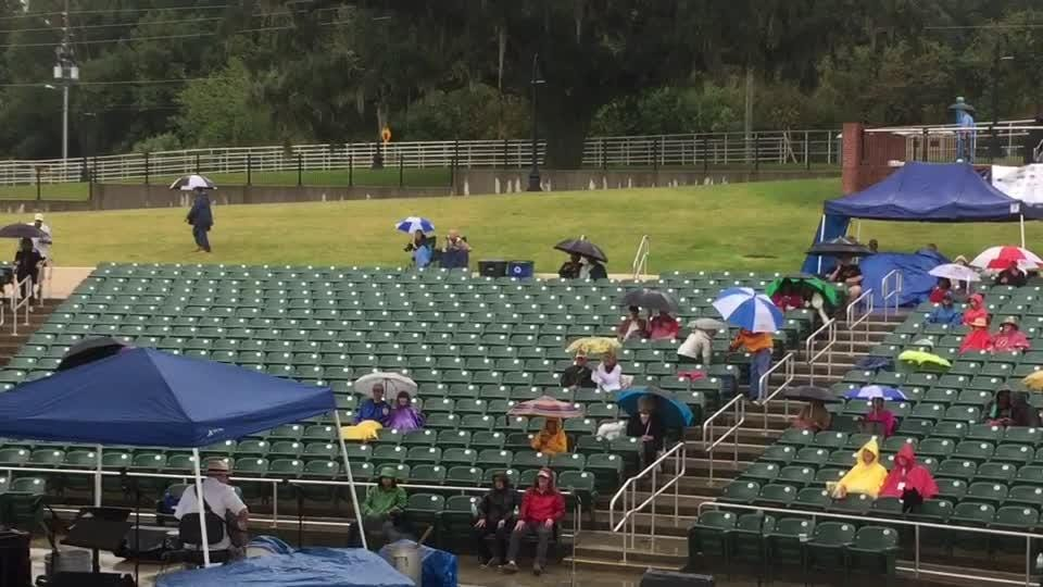 The rain couldn't keep the music from flowing and jamming at the Florida Jazz & Blues Festival on Oct. 28.