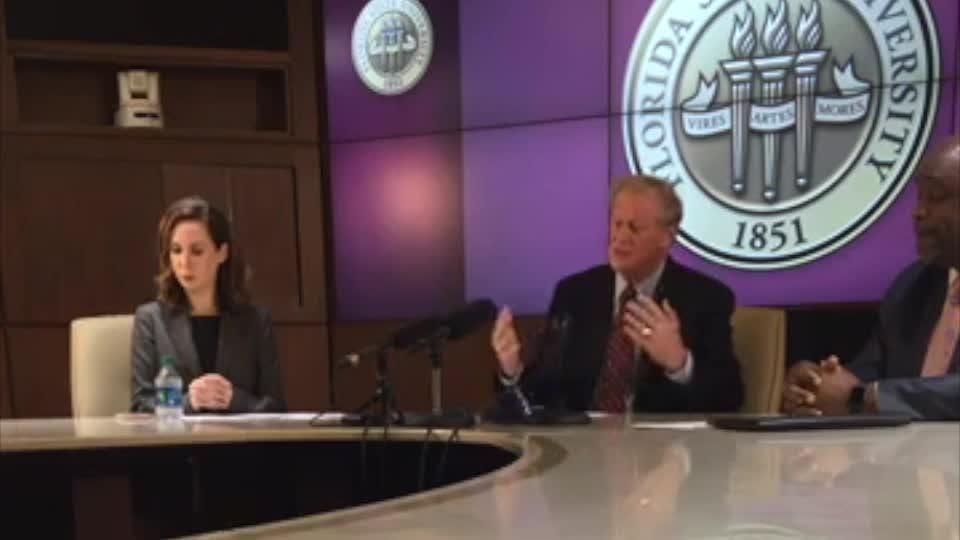 FSU President John Thrasher has announced a ban on all Greek life at FSU.