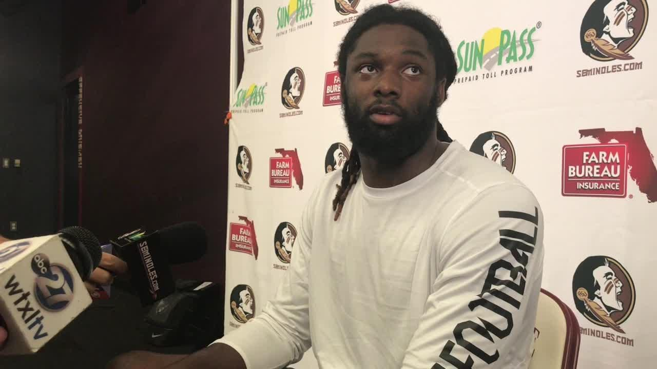 Florida State defensive end Josh Sweat talks about his performance this season.