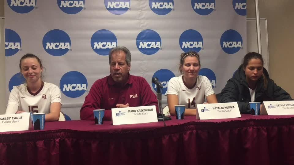 FSU opened its 2017 NCAA tournament with a 5-0 thrashing of Ole Miss.