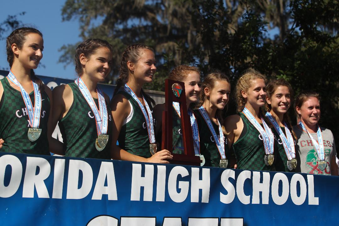 The Chiles' girls cross country team and individual state-title winner Ana Wallace talk about their Class 3A state championship and revel in their performances.