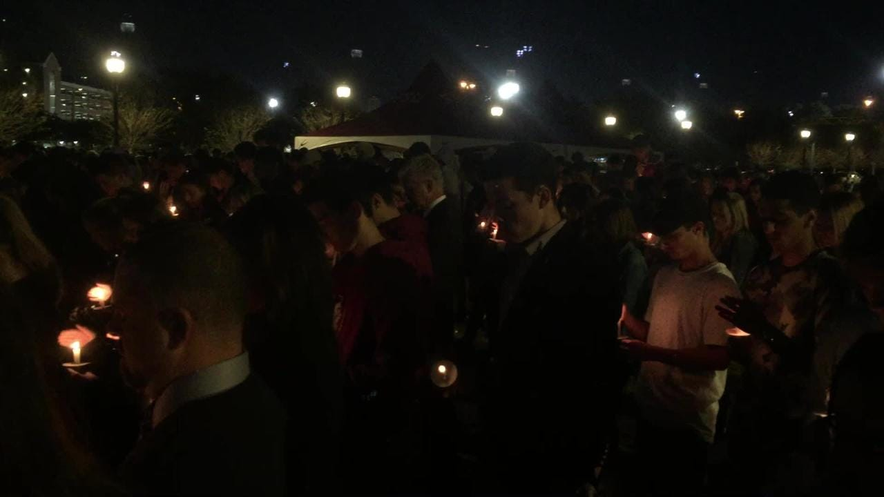 Vigil for Andrew Coffey, FSU pledge who died