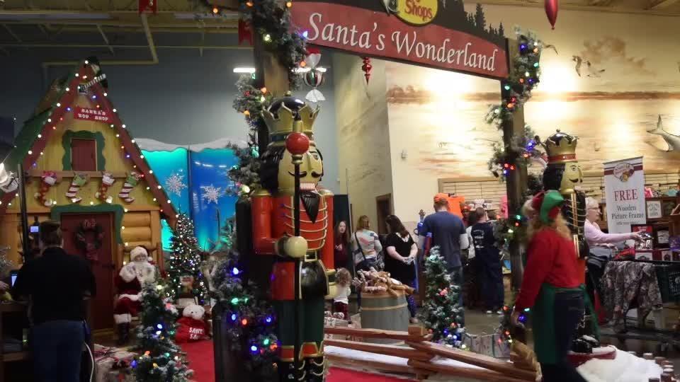 Watch it: Santa's Wonderland at Bass Pro Shop