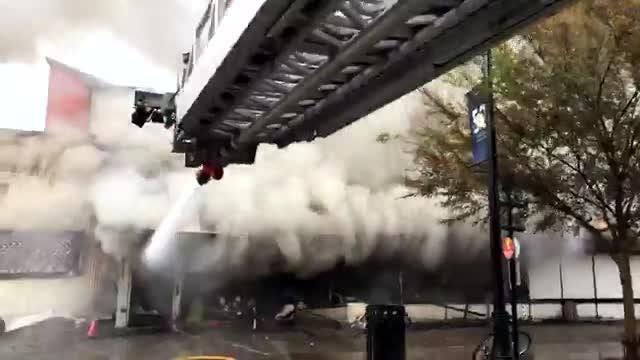 Watch it: TFD fights fire at International Book Mine
