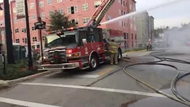 TFD fights fire at International Book Mine