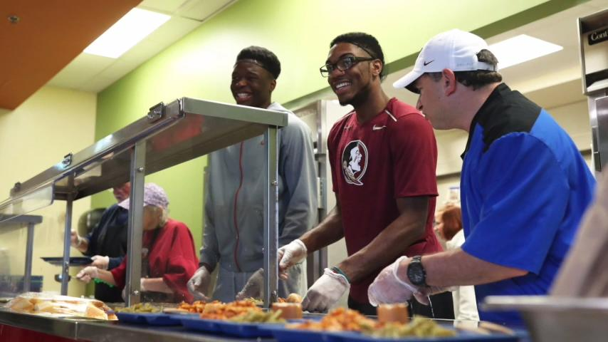 FSU Basketball Volunteers at the Kearney Center