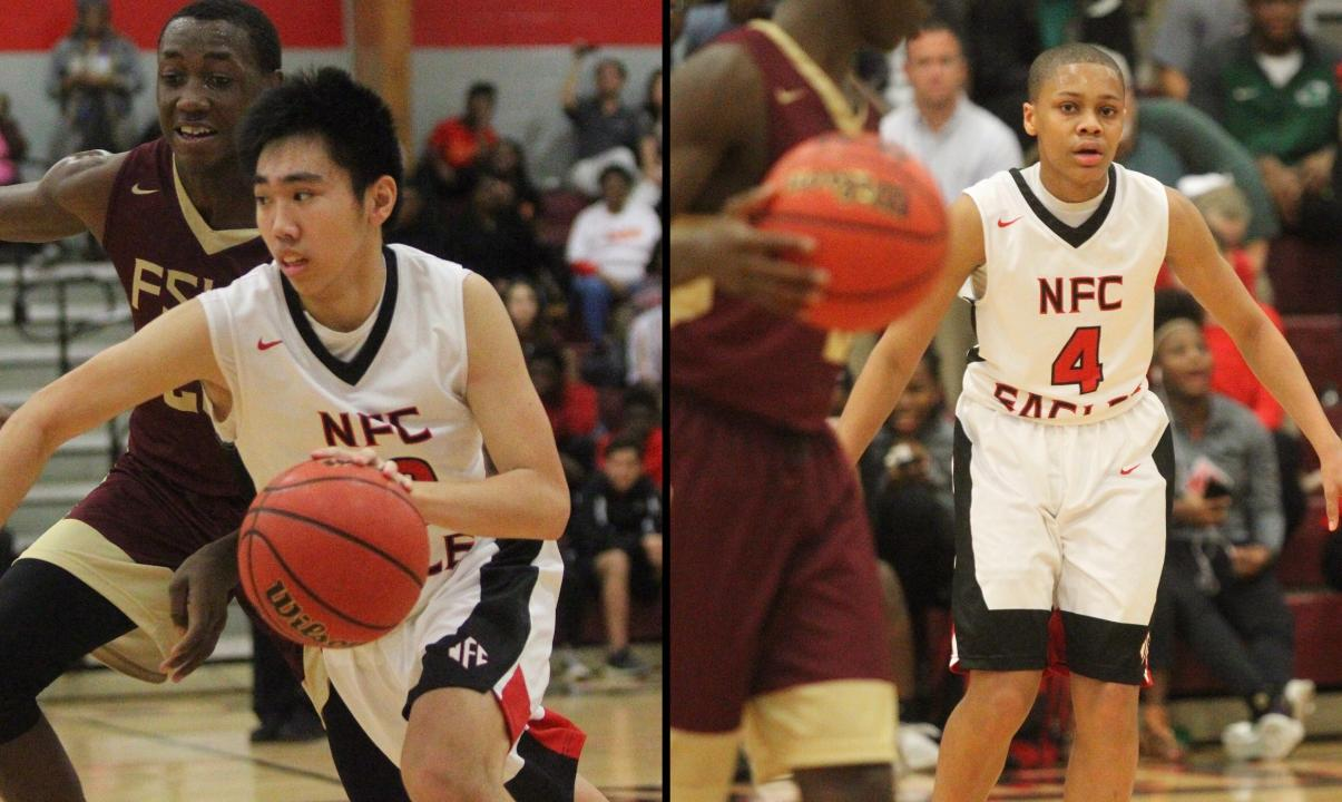 North Florida Christian basketball players Chris Pham and Victor Clark talk about a win over Florida High and the Eagles' winning season.