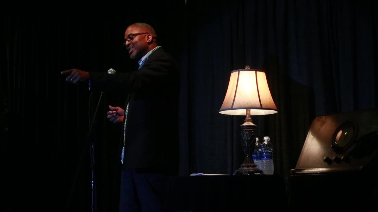 Andrew Skerritt tells a story about love and loss onstage at the Junction at Monroe during the Tallahassee Democrat's first Storytellers Project event Jan 29, 2018.