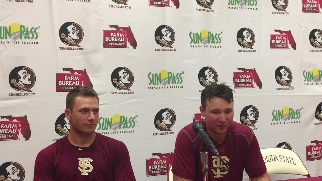 Watch it: Cal Raleigh and Drew Parrish talk after FSU's 5-1 win on Sunday