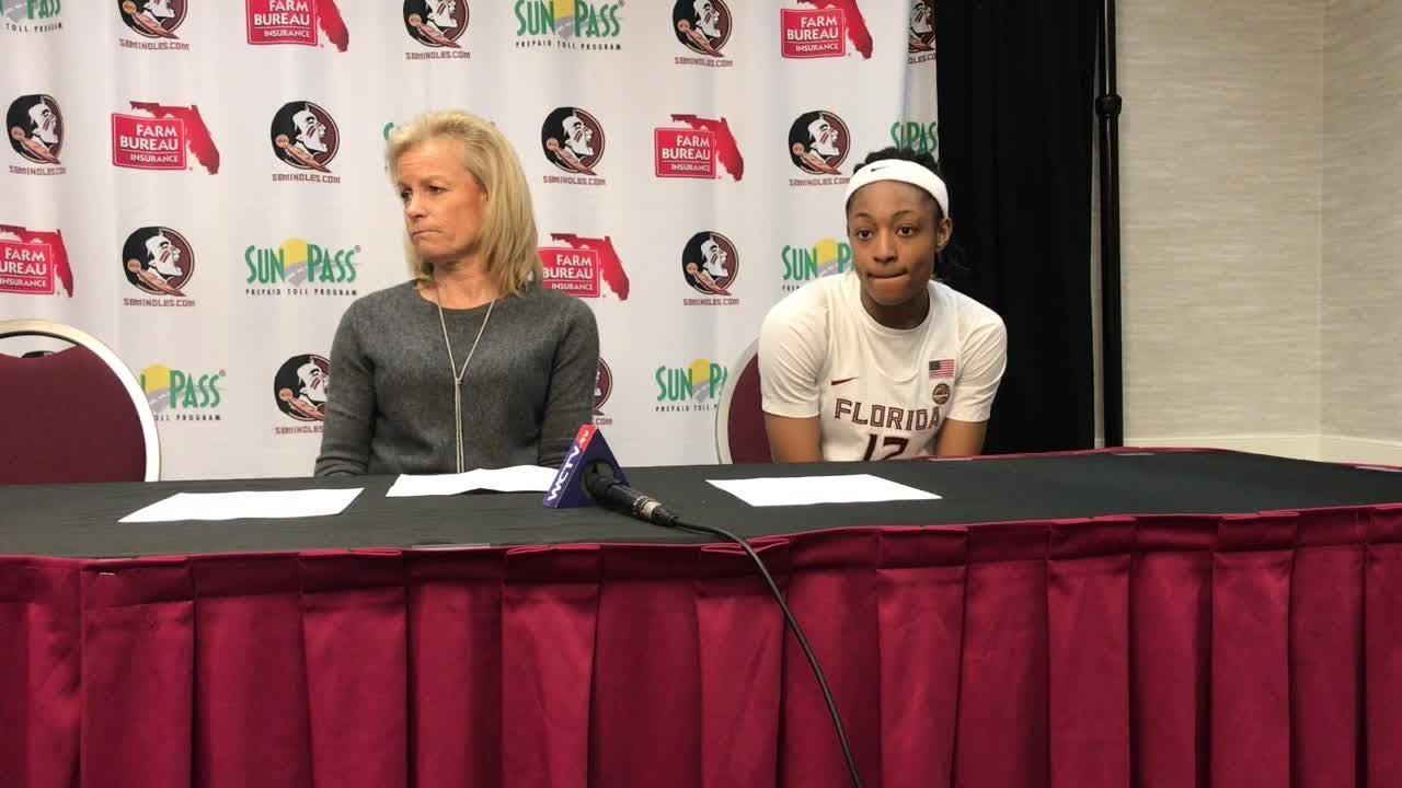 FSU coach Sue Semrau and sophomore guard Nicki Ekhomu break down FSU's win over Boston College.